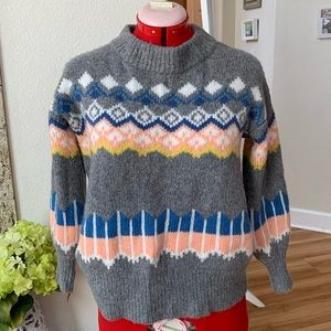 NWT Ann Taylor LOFT fair isle wool sweater PS